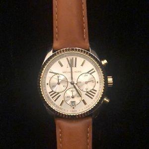 Genuine Brown Leather Michael Kors Watch